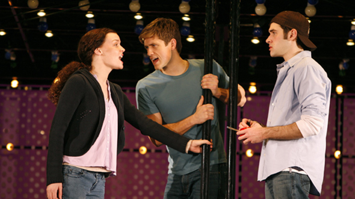 Next to Normal - show photo - Aaron Tveit - Adam Chanler-Berat -  Jennifer Damiano -  Joan Marcus.
